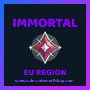 EU Region Immortal Valorant Account