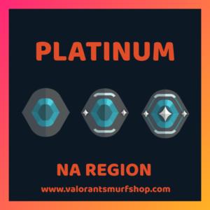 NA Region Platinum Valorant Account