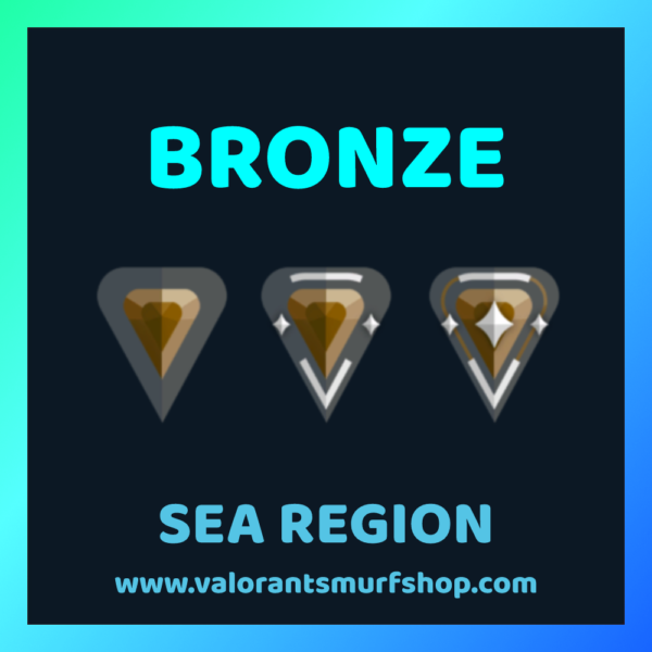 SEA Region Bronze Ranked Valorant Account